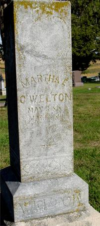 WELTON, MARTHA E. C. - Monona County, Iowa | MARTHA E. C. WELTON
