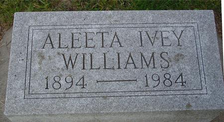 IVEY WILLIAMS, ALEETA - Monona County, Iowa | ALEETA IVEY WILLIAMS