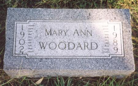 WOODARD, MARY ANN - Monona County, Iowa | MARY ANN WOODARD