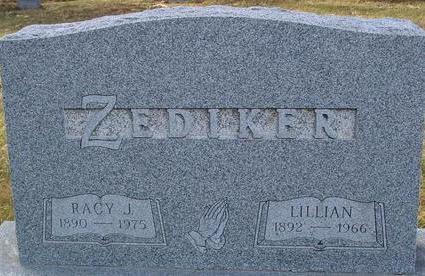 ZEDIKER, RACY J. & LILLIAN - Monona County, Iowa | RACY J. & LILLIAN ZEDIKER