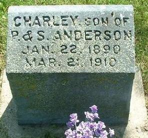 ANDERSON, CHARLEY - Monroe County, Iowa   CHARLEY ANDERSON