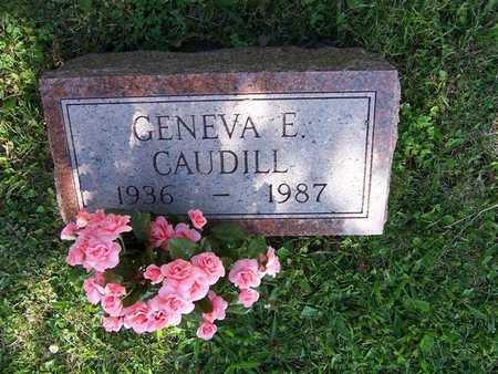 CAUDILL, GENEVA E. - Monroe County, Iowa   GENEVA E. CAUDILL