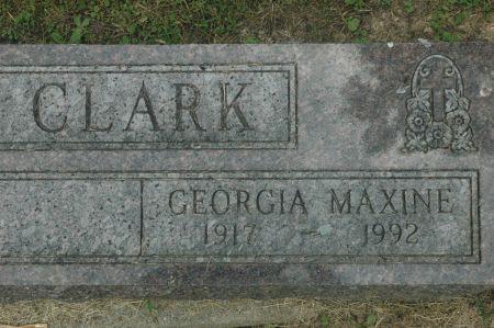 CLARK, GEORGIA  MAXINE - Monroe County, Iowa   GEORGIA  MAXINE CLARK