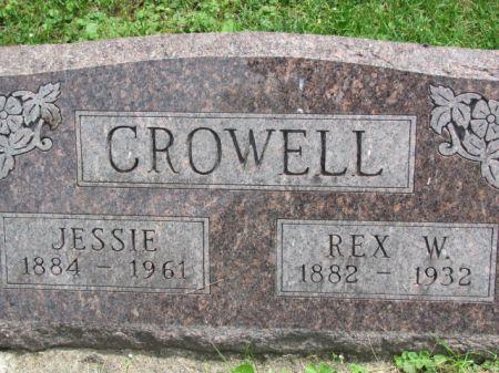 CROWELL, JESSIE - Monroe County, Iowa   JESSIE CROWELL