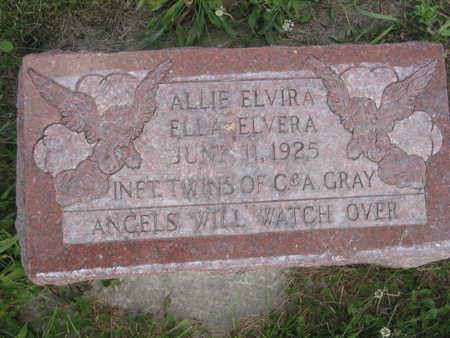 GRAY, ALLIE ELVIRA - Monroe County, Iowa | ALLIE ELVIRA GRAY