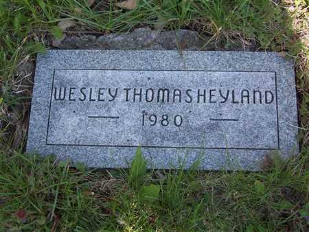 HEYLAND, WESLEY THOMAS - Monroe County, Iowa   WESLEY THOMAS HEYLAND