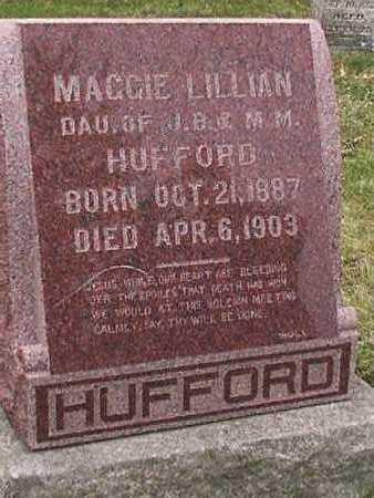 HUFFORD, MAGGIE LILLIAN - Monroe County, Iowa | MAGGIE LILLIAN HUFFORD
