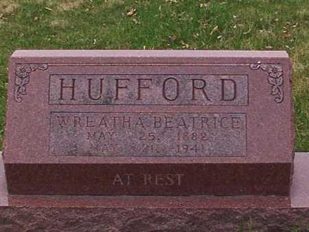 HUFFORD, WREATHA - Monroe County, Iowa | WREATHA HUFFORD