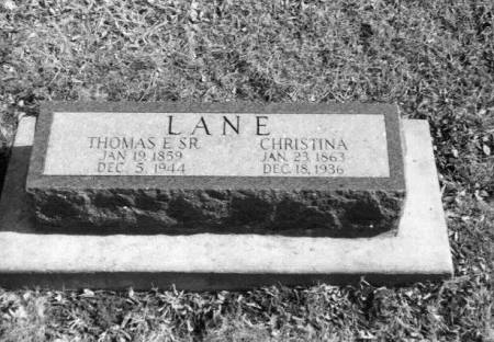 LANE, THOMAS E. - Monroe County, Iowa | THOMAS E. LANE