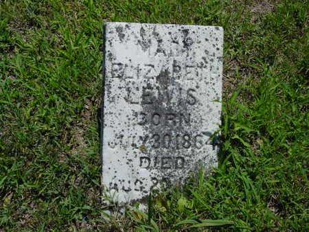 LEWIS, MARY ELIZABETH - Monroe County, Iowa   MARY ELIZABETH LEWIS