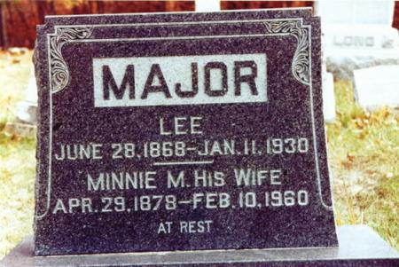 MAJOR, MINNIE M. - Monroe County, Iowa | MINNIE M. MAJOR