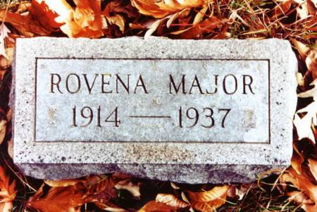 MAJOR, ROVENA - Monroe County, Iowa | ROVENA MAJOR