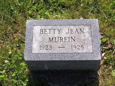 MURFIN, BETTY JEAN - Monroe County, Iowa   BETTY JEAN MURFIN