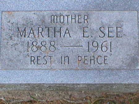 FRY SEE, MARTHA - Monroe County, Iowa | MARTHA FRY SEE