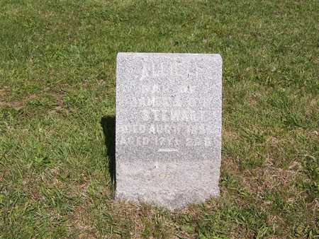 STEWART, ALLIE F. - Monroe County, Iowa   ALLIE F. STEWART