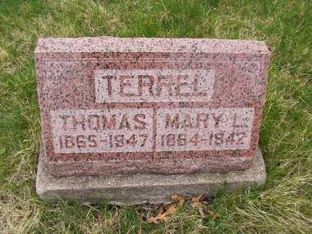TERREL, MARY L. - Monroe County, Iowa | MARY L. TERREL