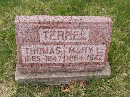 TERREL, MARY L. - Monroe County, Iowa | MARY L. TERREL