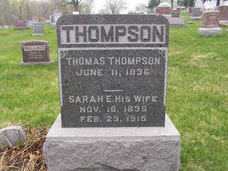 THOMPSON, SARAH E. - Monroe County, Iowa   SARAH E. THOMPSON