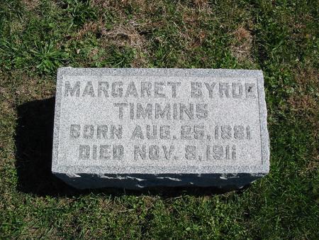 QUIGLEY TIMMINS, MARGARET BYRDE - Monroe County, Iowa | MARGARET BYRDE QUIGLEY TIMMINS