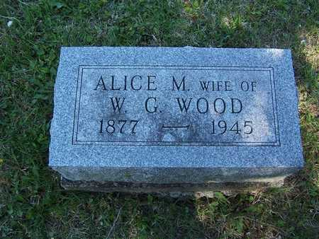 JEWELL WOOD, ALICE M. - Monroe County, Iowa | ALICE M. JEWELL WOOD