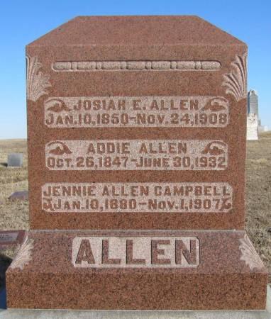 ALLEN, JOSIAH E - Montgomery County, Iowa | JOSIAH E ALLEN