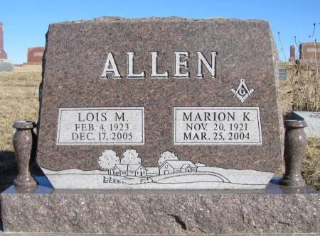 ALLEN, MARION K - Montgomery County, Iowa   MARION K ALLEN