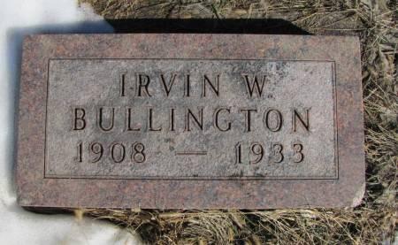 BULLINGTON, IRVIN W - Montgomery County, Iowa | IRVIN W BULLINGTON