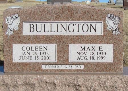 BULLINGTON, MAX E - Montgomery County, Iowa | MAX E BULLINGTON