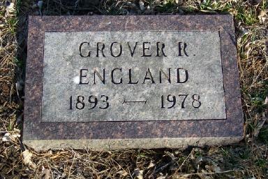 ENGLAND, GROVER R - Montgomery County, Iowa | GROVER R ENGLAND