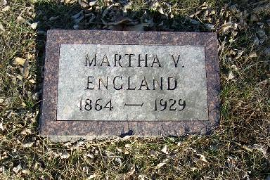 HUFFER ENGLAND, MARTHA VIOLA - Montgomery County, Iowa | MARTHA VIOLA HUFFER ENGLAND