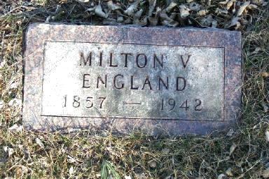 ENGLAND, MILTON V. - Montgomery County, Iowa | MILTON V. ENGLAND