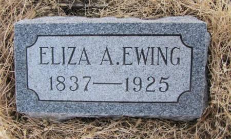 EWING, ELIZA A - Montgomery County, Iowa | ELIZA A EWING