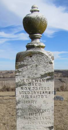EWING, MARY S KELLENBARGER - Montgomery County, Iowa | MARY S KELLENBARGER EWING
