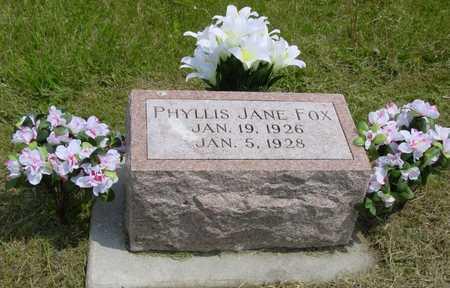 FOX, PHYLLIS JANE - Montgomery County, Iowa | PHYLLIS JANE FOX