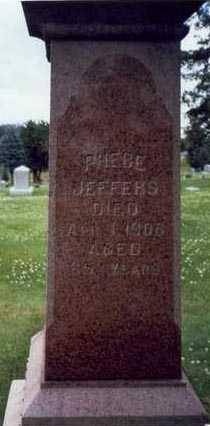 JEFFERS, PHEBE - Montgomery County, Iowa | PHEBE JEFFERS