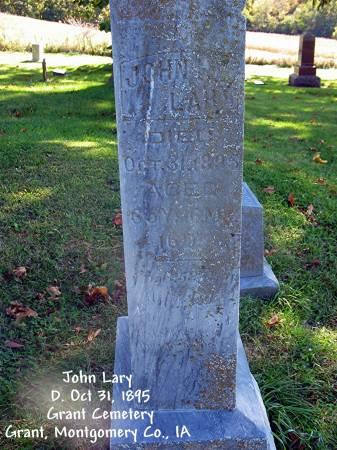 LARY, JOHN - Montgomery County, Iowa | JOHN LARY