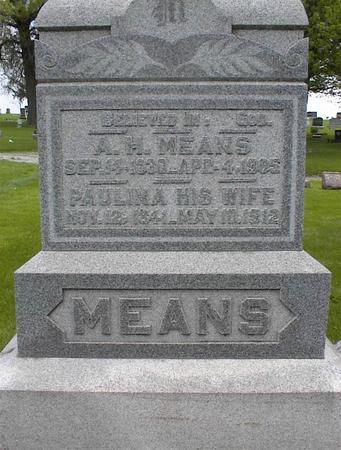 MEANS, PAULINA - Montgomery County, Iowa | PAULINA MEANS