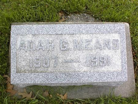 MEANS, ADAH G. - Montgomery County, Iowa | ADAH G. MEANS