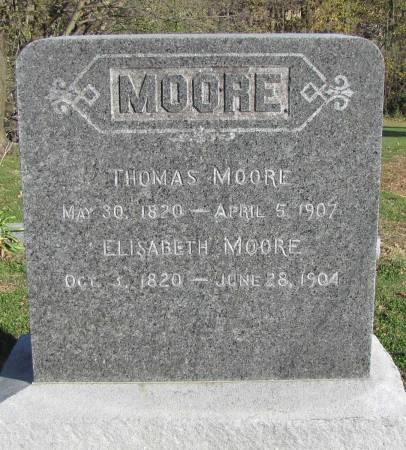 SPARGUR MOORE, ELIZABETH - Montgomery County, Iowa | ELIZABETH SPARGUR MOORE