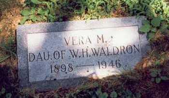 WALDRON, VERA M. - Montgomery County, Iowa | VERA M. WALDRON