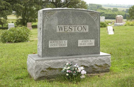 WESTON, MATILDA C. DAVIS - Montgomery County, Iowa | MATILDA C. DAVIS WESTON