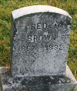 BROWN, FRED W. - Muscatine County, Iowa   FRED W. BROWN