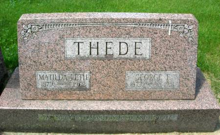 THEDE, GEORGE F. - Muscatine County, Iowa   GEORGE F. THEDE