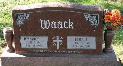 ANDERSON WAACK, ELMA E. - Muscatine County, Iowa   ELMA E. ANDERSON WAACK