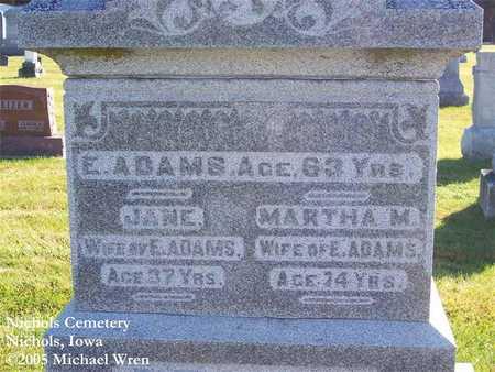 ADAMS, JANE - Muscatine County, Iowa | JANE ADAMS
