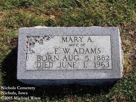 ADAMS, MARY ANN - Muscatine County, Iowa   MARY ANN ADAMS