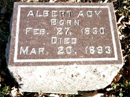 ADY, ALBERT - Muscatine County, Iowa   ALBERT ADY