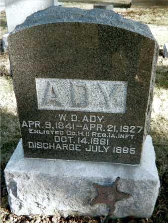 ADY, W.D. - Muscatine County, Iowa | W.D. ADY