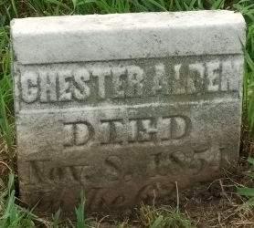 ALDEN, CHESTER - Muscatine County, Iowa   CHESTER ALDEN