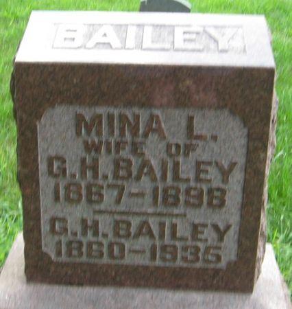 BAILEY, GEORGE HENRY - Muscatine County, Iowa   GEORGE HENRY BAILEY